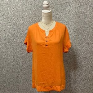 ❤️Banana Republic Orange Relaxed Scoop Blouse MT❤️
